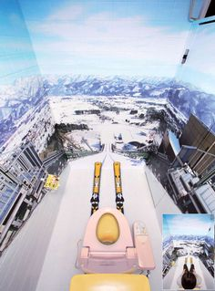 Ski jump bathroom. New meaning to apres-ski!