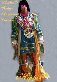 Vtg  Costume Mummers hippie M/L Mardi gras by pinehaven2 on Etsy, $265.00