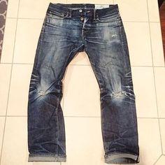 Rogue territory 1 year old 14.5oz Stantons #denim #jeans #pant #indigo #rugged #selvedge #menswear #fashion