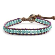 Turquoise Single Wrap Bracelet on Natural Brown Leather Unique Bracelets, Handmade Bracelets, Bangle Bracelets, Bangles, Tear, Natural Brown, Brown Leather, Women Jewelry, Turquoise
