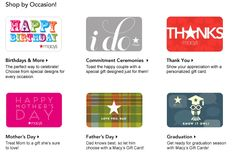 Gift Cards, E-Gift Cards & Gift Certificates - Macy's Macys Gifts, Personalized Gift Cards, Special Gifts, Appreciation, Birthdays, Thankful, My Favorite Things, Happy, Anniversaries