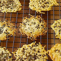 Weight Watchers Recipe - Herbed Parmesan Crisps. Serve with salad or crumble into soup. For variety, swap basil for chives and add fresh minced garlic. Or try crushed fennel seeds and red pepper flakes instead. 1 point
