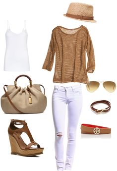 """""""brown-white"""" by gulsengul on Polyvore"""