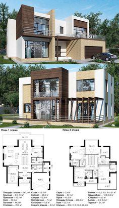 Общая площадь — 360,8 м² Общая площадь (без террас и крылец) — 334,5 м²  Габариты: 20,4х14,1 м