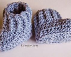 free patern 10 minutes crochet booties for babies