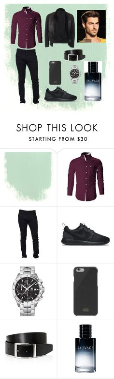 """""""Soirée entre mecs"""" by lydie31 on Polyvore featuring Dsquared2, NIKE, TAG Heuer, Native Union, BOSS Hugo Boss, Christian Dior, Gucci, men's fashion, menswear et tropdestyle"""