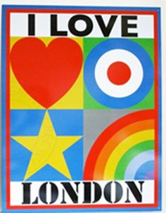 I Love London by Peter Blake, 2012