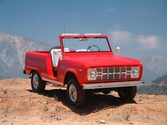 Another Red Ford Bronco Roadster