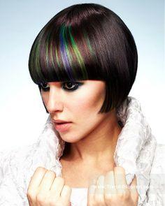 WEBSTER WHITEMAN Mittel Schwarz weiblich Gerade Farbige Multi-tonalen Poker-Frauen gerade Haarschnitt Frisuren hairstyles