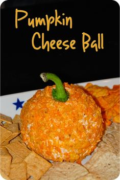 Pumpkin Cheese Ball Recipe | Ready for the easiest, most super cute and adorable fall hors d ...