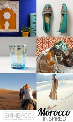 Travel + shop Moroccan inspired style picks and travel recommendations.