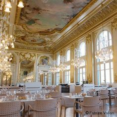 The restaurant at the Musée d'Orsay in Paris.  But the wicker chairs of earlier years were pretter!
