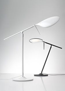 This is a fantastic task lamp - @Fabbian_Spa Paddle now available a white version too