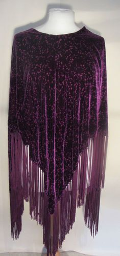Velvet evening poncho with fringing Velvet, Blouse, Ebay, Clothes, Collection, Tops, Women, Fashion, Outfits