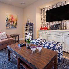 Wall art for living room designs | diy stencil project | Kathleen from Kathleen Jennison #diy #livingroom #painting #design #homedecor #accentwall