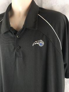 ADIDAS CLIMACOOL Golf Polo Shirt Orlando Magic Basketball Black MENS XL #adidas #PoloRugby