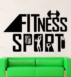 Wall Sticker Vinyl Decal Sports Fitness Healthy Lifestyle Gym Health (ig2177) #Wallstickers4you