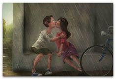 А вы не целовались под дождем