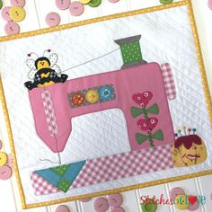 Make this Sew Cute! Mini Quilt without any tracing or cutting! The Sew Cute! Mini Quilt Laser Cut Kit includes everything you need . Sewing Hacks, Sewing Tutorials, Sewing Crafts, Sewing Tips, Video Tutorials, Sewing Ideas, Sewing Patterns Free, Free Sewing, Embroidery Patterns