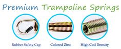 Trampoline springs from Trampoline Parts Center Trampoline Parts, Trampoline Springs