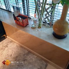 A luxurious khaki marble highlights on a khaki base design with a. The Effective Pictures We Offer You About Epoxy Countertop paint A quality picture can Epoxy Countertop, Painting Countertops, Bay Window Design, Singapore, How To Find Out, Highlights, Beautiful Pictures, Marble, Dining Table