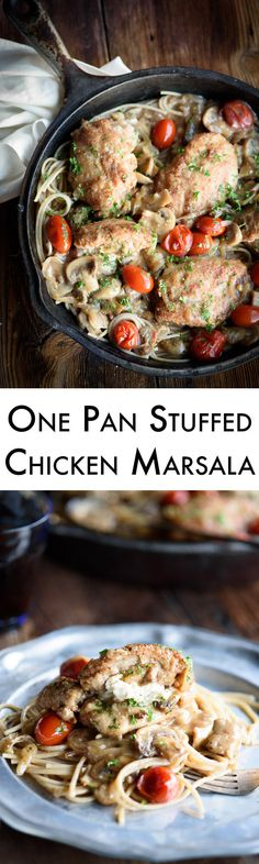 This one pan stuffed chicken marsala recipe is so simple and yet the taste is…