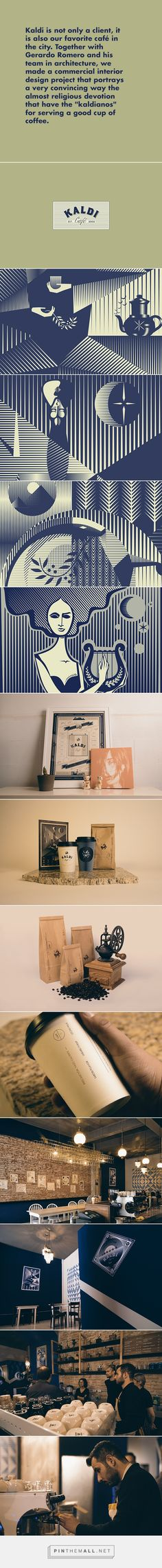 Kaldi identity packaging branding by yy on Behance. Who's ready for a cup of coffee now? created via https://www.behance.net/gallery/19143465/Kaldi-