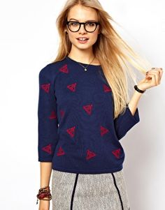 Enlarge ASOS Jumper With Embroidered Boats