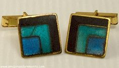 Check out the deal on Vintage German Matte Cloisonne Enamel Cufflinks Signed SCHOLTZ and LAMMEL at Amazing Adornments