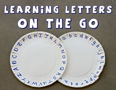 Learn Letters On The Go with this fun activity.