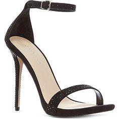 CARVELA Glacier diamanté sandals Black £100.00