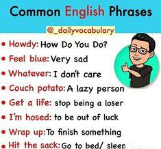 English Learning Spoken, English Language Learning, English Writing, Slang English, English Phrases, English Grammar, Slang Phrases, Cool Phrases, English Time