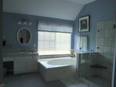 Master bathroom with separate shower and garden tub