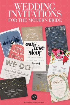 For your wedding day, you want everything to be perfect. Rely on Wedding Paper Divas for beautiful, customizable wedding invitations, save the dates, thank you stationery and more. From classic and formal, rustic, vintage, modern and whimsical discover the style that best suits you on a budget. Get quality you can feel and receive our free sample kit today.: