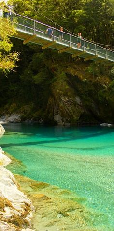 Blue Pools Walk, Mt Aspiring National Park, New Zealand, We need to go there