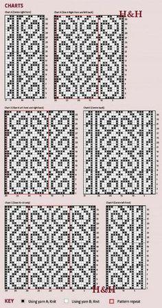 Tapestry Crochet Patterns, Fair Isle Knitting Patterns, Knitting Charts, Weaving Patterns, Mosaic Patterns, Knitting Stitches, Pixel Pattern, Mittens Pattern, Chart Design