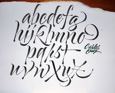 Brush alphabet by Carlos Cruz Mais Creative Lettering, Graffiti Lettering, Lettering Styles, Brush Lettering, Lettering Design, Tattoo Fonts Alphabet, Hand Lettering Alphabet, Calligraphy Letters, Typography Letters