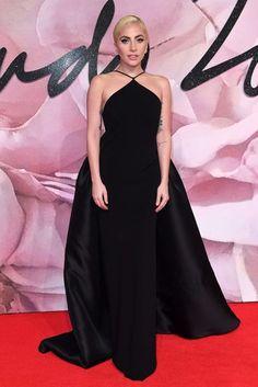 Fashion Awards Red Carpet Gallery 2016 | British Vogue Lady Gaga wore Brandon Maxwell.