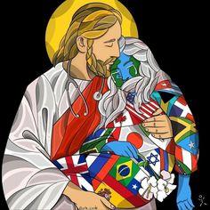 Jesus the great physician pieces) Graphic Design Illustration, Illustration Art, Jesus Art, King Of Kings, Spiritual Awakening, Spiritual Quotes, Wisdom Quotes, Jesus Loves, Rock Art