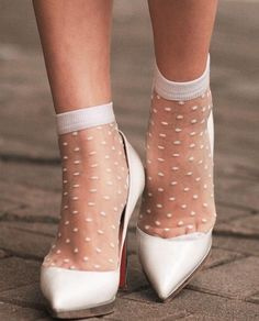 156894793 How to wear socks with heels and still look chic. 🌹 Love it or Leave