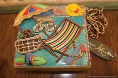 Brand New Mary Frances Summer Shoulder Box Bag Purse Beach  #MaryFrances #ShoulderBag