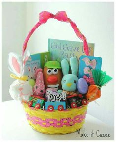 101 easter basket ideas for babies and toddlers that arent candy make it cozee toddler easter basket negle Image collections