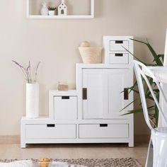 Afnes mueble escalera reversible blanco White Wood, Entryway, New Homes, Stairs, Wall, House, Furniture, Design, Home Decor