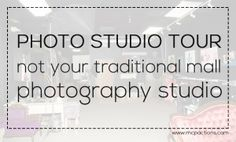 Come get great ideas for your own studio - by taking this Photo Studio Tour.