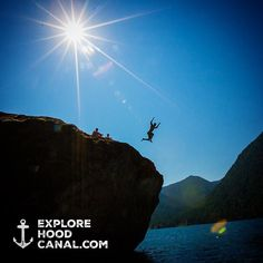 Summer throwback to jumping off the #bigrock at Lake Cushman, Olympic Peninsula. #wildsideWA #explorehoodcanal #hoodcanal #olympicnationalpark #neature @olympicnationalpark #lakecushman #olympicpeninsula #rockjump #sun #blue #summer #awesome #travel #beauty #nature #cool #love #beautiful #amazing