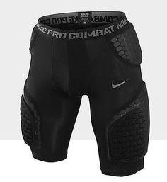 Nike Pro Combat Compression Hyper Black Dri-Fit Football 5 Pads Mens Shorts
