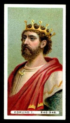 King Edmund: King of England 939–46. The son of Edward the Elder, he succeeded his half-brother, Athelstan, as king in 939. He succeeded in regaining control of Mercia, which on his accession had fallen to the Norse inhabitants of Northumbria, and of the Five Boroughs. He then moved on to subdue the Norsemen in Cumbria and finally extended his rule as far as southern Scotland. He was killed in 946 at Pucklechurch, Gloucestershire, by an outlawed robber.