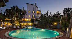 Grand Hotel Il Moresco Ischia Il Moresco is framed by a high lava-stone wall and a centuries-old park with pine trees, gardens and thermal-water pools. There is also an indoor wellness centre, parking is free.