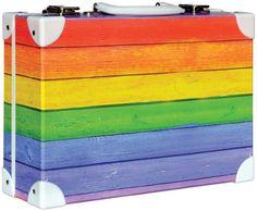 Školní kufřík velký - 35x25x11cm č. 21734 HK Velký   Barevné dřevo prkna Box, Exposed Beams, Metal, Gifts, Snare Drum