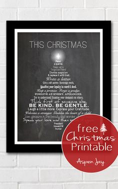 This Christmas Free Printable is a perfect touch of Christmas to any home. Using a quote from Howard W. Hunter about some true gifts to give this holiday.